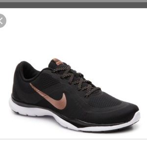Nike Flex Trainer 6 Black  Rose Gold Running Shoes